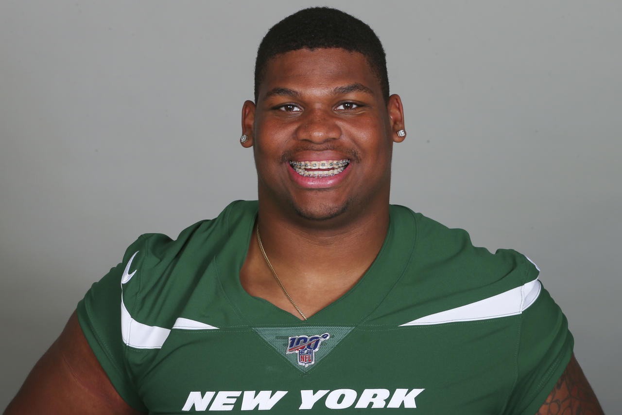 This is a 2019 photo of Quinnen Williams of the New York Jets NFL football team. This image reflects the New York Jets active roster as of Monday, June 3, 2019 when this image was taken. (AP Photo)