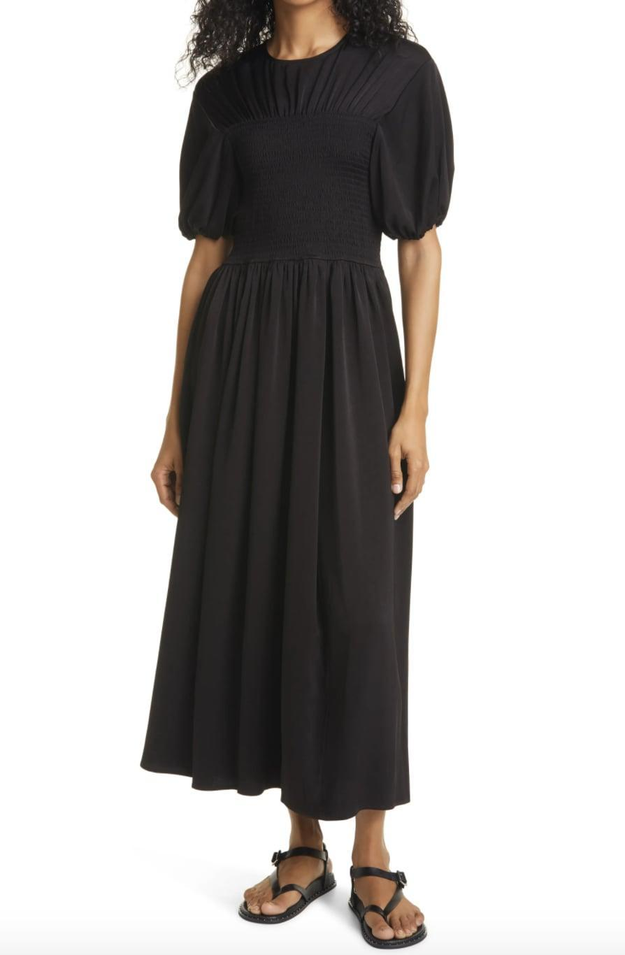 """<p>Workaholic Virgo can easily don the <span>La Ligne Smocked Bodice Puff Sleeve Maxi Dress</span> ($395) for office-party drinks. Just don't forget about summer Fridays: Virgos need some """"me"""" time to pamper themselves.</p>"""