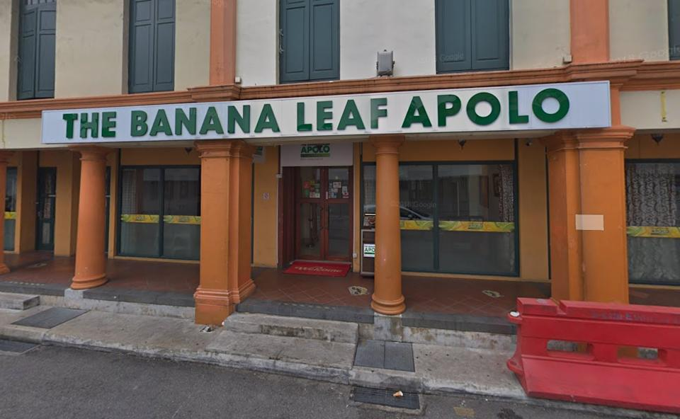 The Banana Leaf Apolo restaurant at Little India Arcade. (PHOTO: Google Maps)