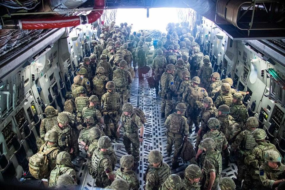 16 Air Assault Brigade arriving in Kabul (Leading Hand Ben Shread/MoD/Crown Copyright/PA) (PA Media)
