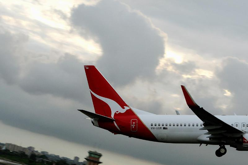 A Qantas aircraft takes off from Sydney Airport on October 26, 2007