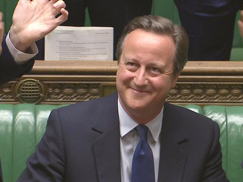 Britain's outgoing Prime Minister, David Cameron, is applauded after Prime Minister's Questions in the House of Commons, in central London, Britain in this still image taken from video July 13, 2016.