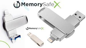 MemorySafeX USB photo stick is a new product designed as a convenient way to backup files in seconds.