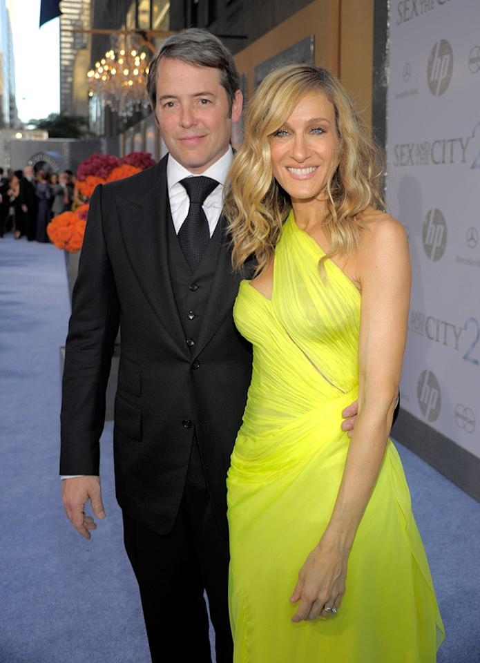 """<a href=""""http://movies.yahoo.com/movie/contributor/1800010807"""">Matthew Broderick</a> and <a href=""""http://movies.yahoo.com/movie/contributor/1800016083"""">Sarah Jessica Parker</a> at the New York City premiere of <a href=""""http://movies.yahoo.com/movie/1810111276/info"""">Sex and the City 2</a> - 05/24/2010"""