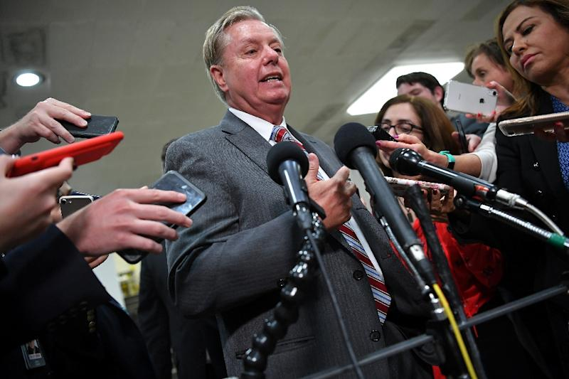 US Senator Lindsey Graham is one of seven Republicans who joined Democrats in voting to block US arms sales to Saudi Arabia and other Arab allies (AFP Photo/MANDEL NGAN)