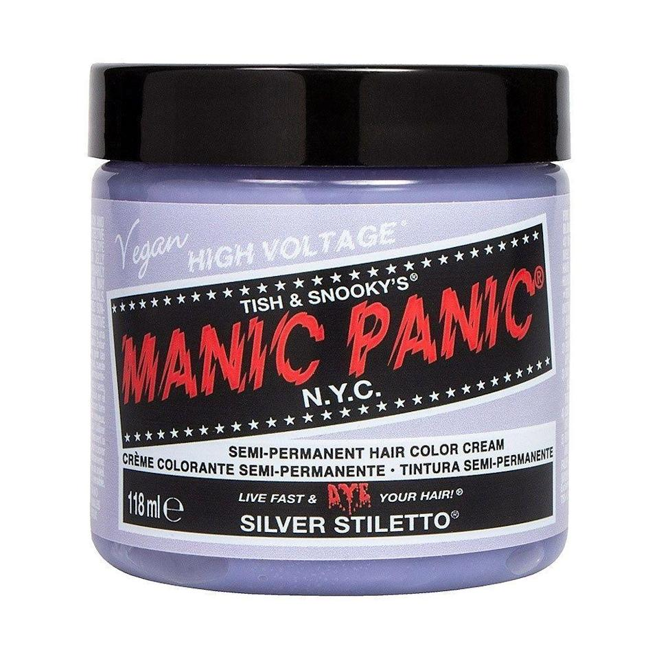 """<p><strong>MANIC PANIC</strong></p><p>amazon.com</p><p><strong>$13.99</strong></p><p><a href=""""http://www.amazon.com/dp/B00FKVXHUY/?tag=syn-yahoo-20&ascsubtag=%5Bartid%7C10056.g.8753%5Bsrc%7Cyahoo-us"""" rel=""""nofollow noopener"""" target=""""_blank"""" data-ylk=""""slk:Shop Now"""" class=""""link rapid-noclick-resp"""">Shop Now</a></p><p>If you want to go bold—temporarily—turn to Manic Panic. You'll get rich, vivid color that will be gone after a few really good scrubs and shampoos.</p>"""