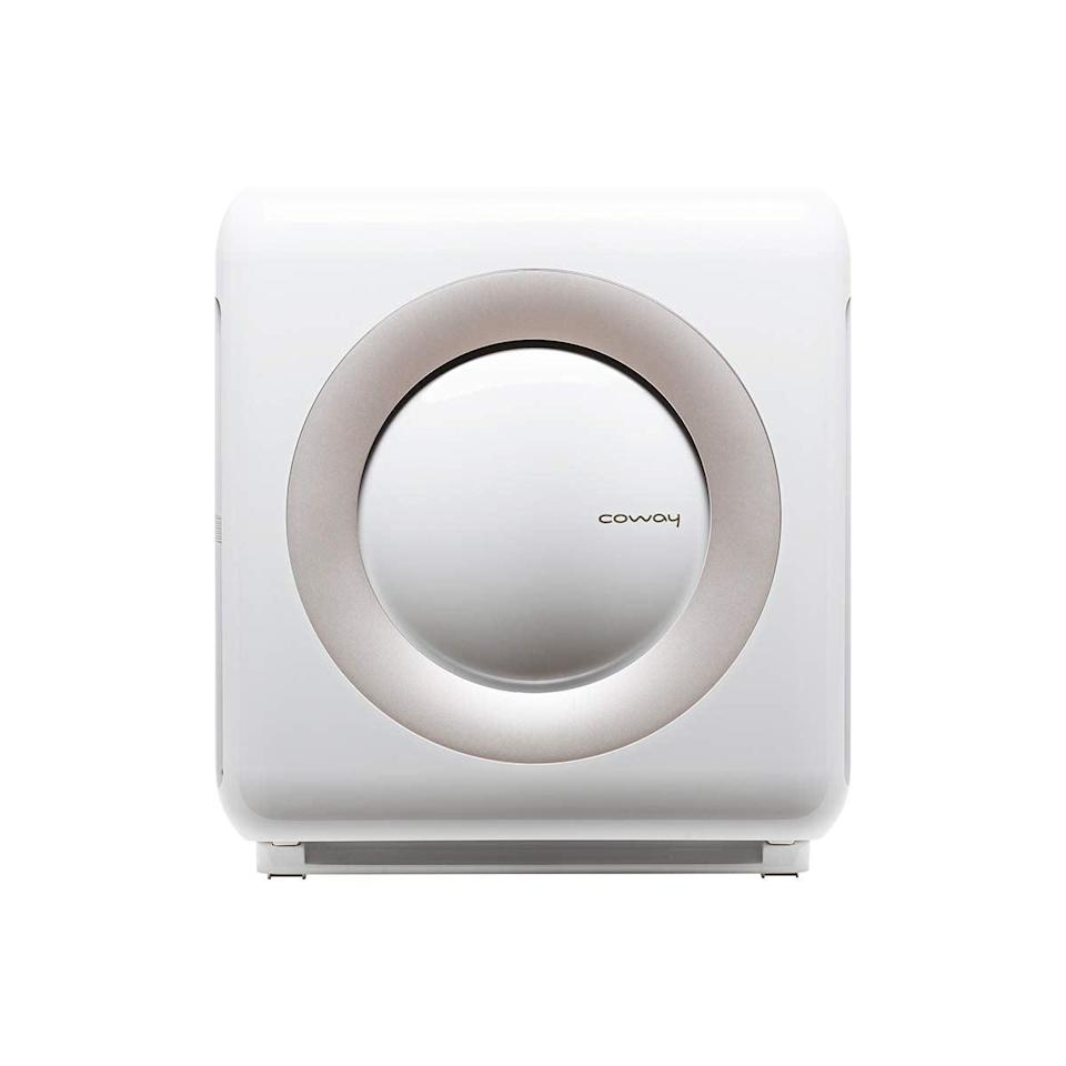 """<h3><a href=""""https://amzn.to/2BDvULX"""" rel=""""nofollow noopener"""" target=""""_blank"""" data-ylk=""""slk:Coway Mighty Air Purifier"""" class=""""link rapid-noclick-resp"""">Coway Mighty Air Purifier</a></h3><br>Designed specifically for middle-sized living spaces, this crisp-white purifier with an advanced multi-stage filtration system and multiple airflow modes is the ideal retro accent to tuck beside a couch or chair.<br><br><strong>Coway</strong> Mighty Air Purifier With True HEPA & Eco Mode, $, available at <a href=""""https://amzn.to/2BDvULX"""" rel=""""nofollow noopener"""" target=""""_blank"""" data-ylk=""""slk:Amazon"""" class=""""link rapid-noclick-resp"""">Amazon</a>"""