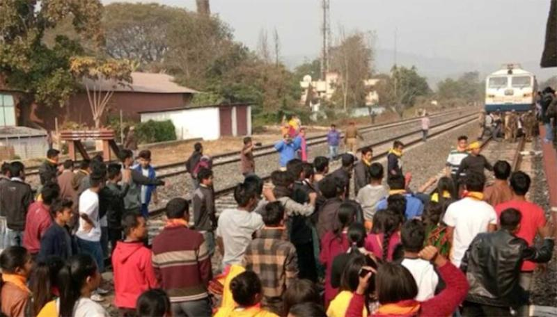 Thousands of train passengers stranded as protests in Dima Hasao continue