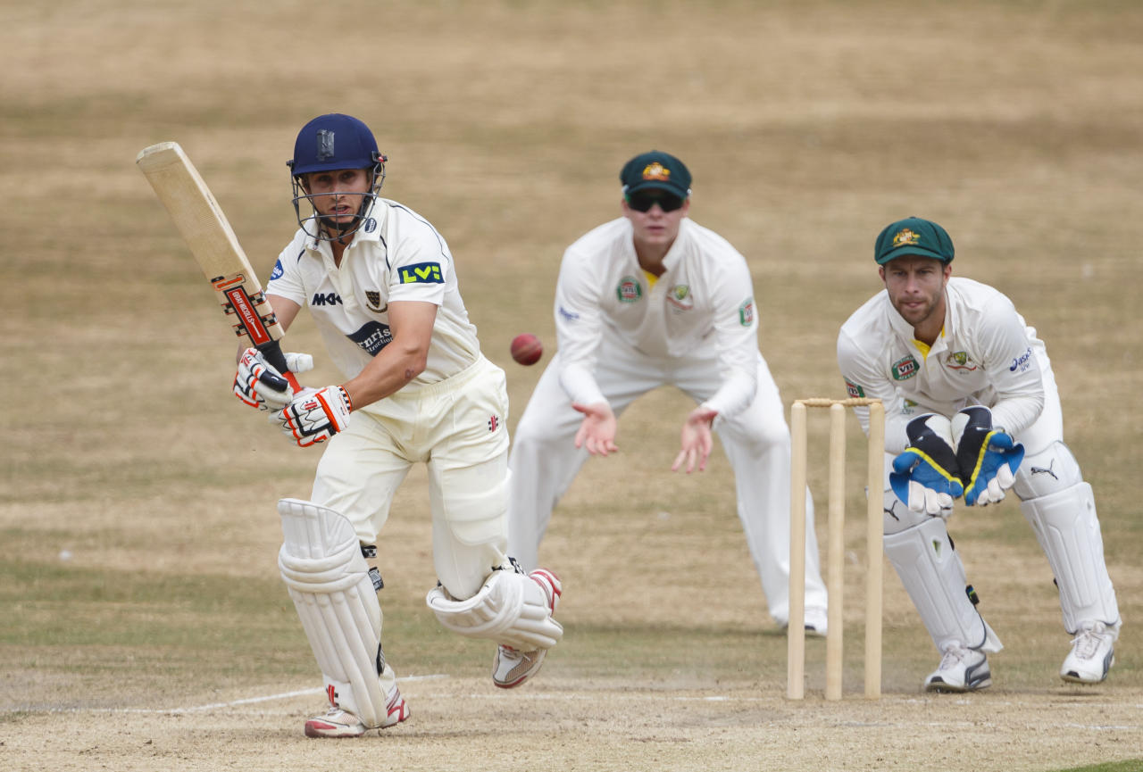 Nottinghamshire's James Taylor in action on day two of the international tour match between Sussex and Australia at the BrightonandHoveJobs.com County Cricket Ground, Hove.