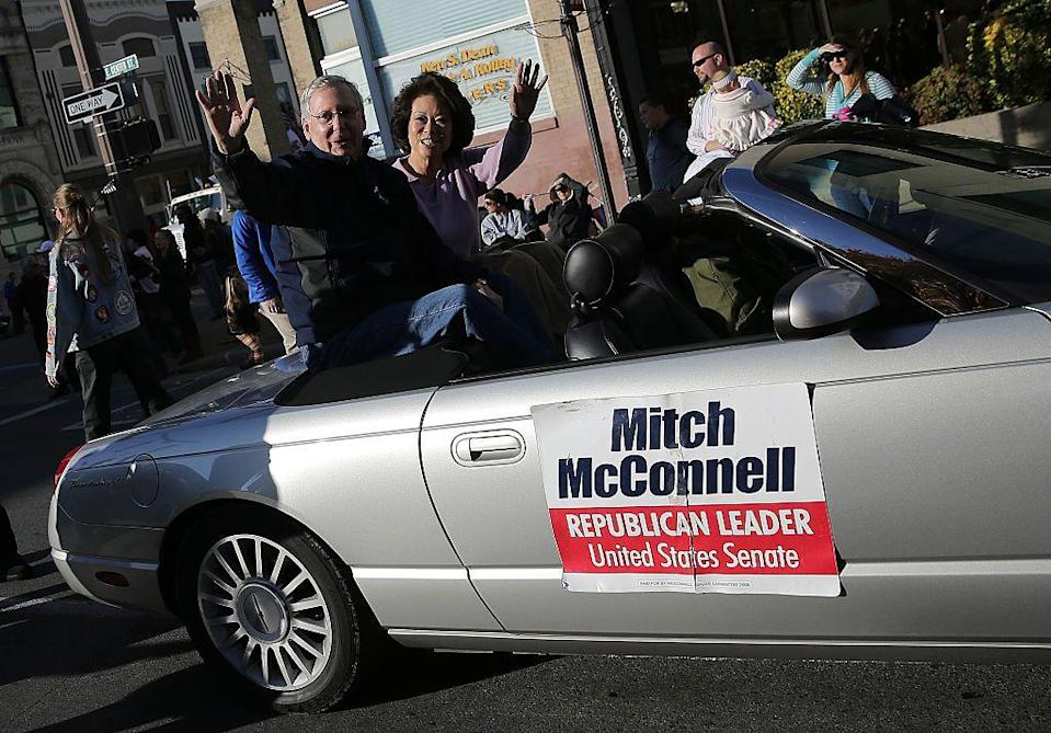 """<p>""""The biggest asset I have by far is the only Kentucky woman who served in a president's cabinet, my wife, Elaine Chao,"""" McConnell <a href=""""http://time.com/3574652/mitch-mcconnells-secret-weapon-his-wife/"""" rel=""""nofollow noopener"""" target=""""_blank"""" data-ylk=""""slk:said at a Fancy Farm GOP political picnic in August 2014"""" class=""""link rapid-noclick-resp"""">said at a Fancy Farm GOP political picnic in August 2014</a><br></p>"""