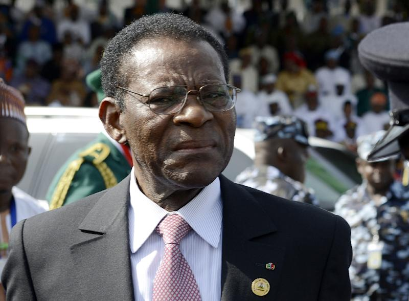 """Equatorial Guinea president Teodoro Obiang Nguema, pictured in 2015, issued a decree granting total amnesty to activists on July 4, 2018, but dozens of """"political prisoners"""" are still incarcerated"""