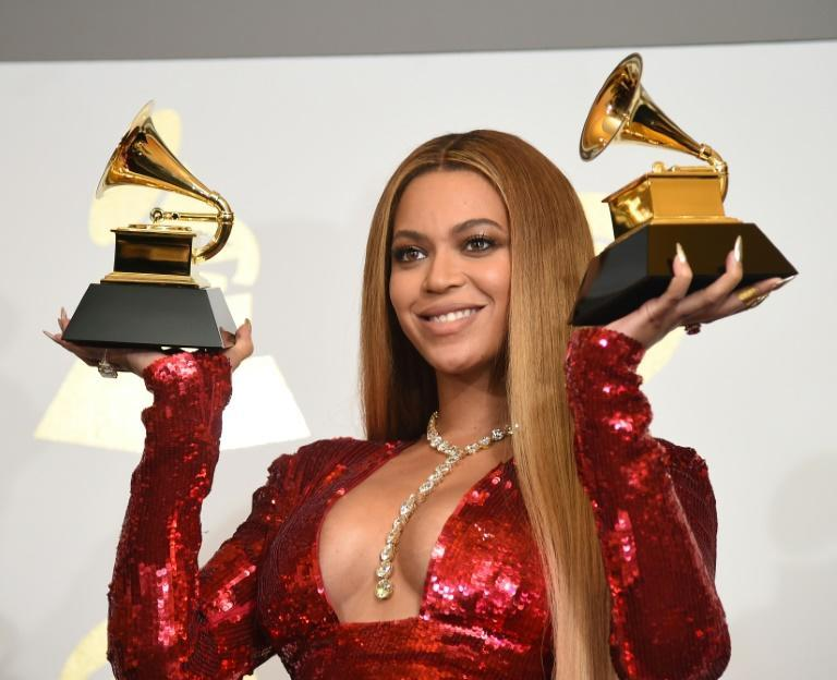 Will Beyonce, seen here in 2017, strike Grammys gold again?