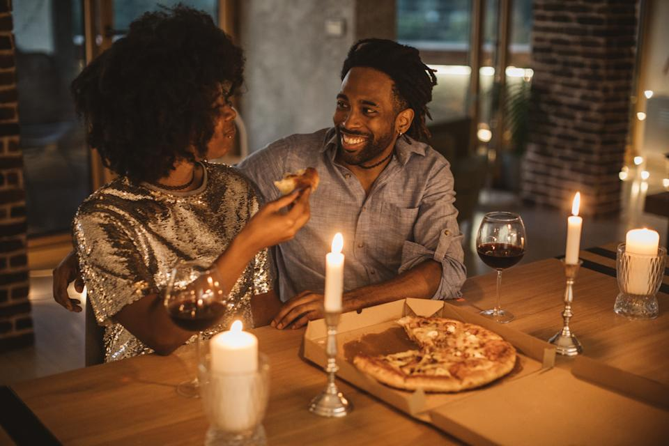 Treat your loved one to a romantic dinner, whether it is a takeaway or cooking together.  (Getty Images)