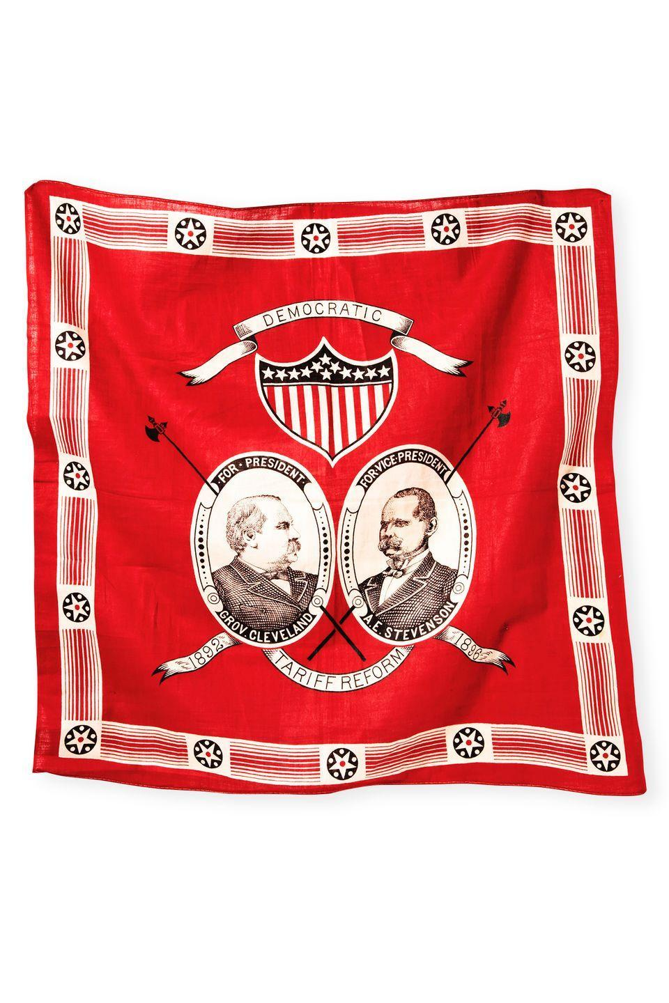 <p><strong>What it was worth (2012):</strong> $1,200</p><p><strong>What it's worth now: </strong>$500</p><p>This vintage bandana displays the faces of the 22nd President of the United States, Grover Cleveland, and his second Vice President, Adlai Stevenson.</p>