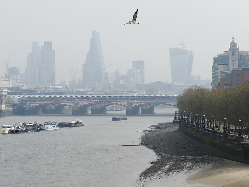 Virtually every major city in the world has a problem with air pollution, from London, above, to Paris to Beijing and Los Angeles: Reuters