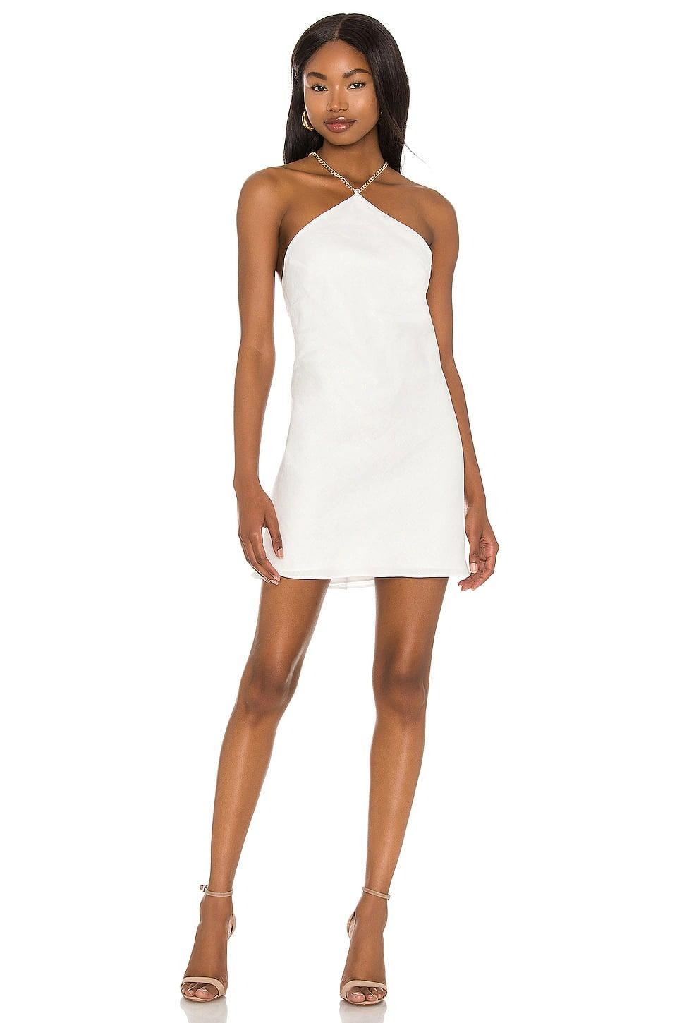 <p>This <span>Amanda Uprichard X Revolve Claudia X Back Chain Dress</span> ($264) has a low back, and it's so sexy.</p>