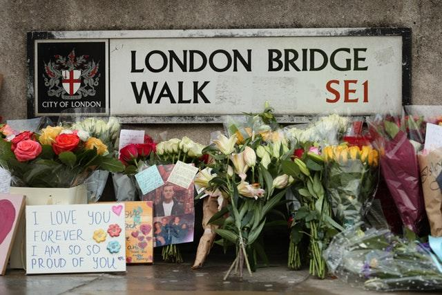 Floral tributes left at London Bridge (Yui Mok/PA)