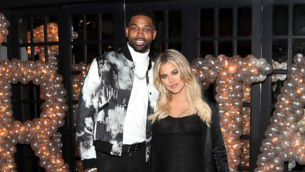 PHOTO: Tristan Thompson and Khloe Kardashian pose for a photo as Remy Martin celebrates Tristan Thompson's Birthday at Beauty & Essex, March 10, 2018, in Los Angeles.  (Jerritt Clark/Getty Images)