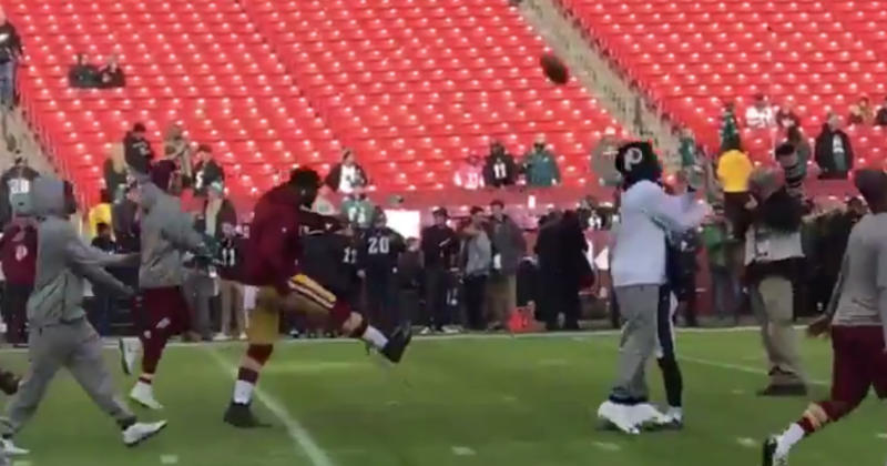 Washington Redskins player kicks ball away from Jake Elliott 5eb72dd8f