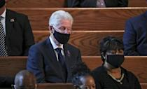 Former president Bill Clinton at the funeral service of John Lewis