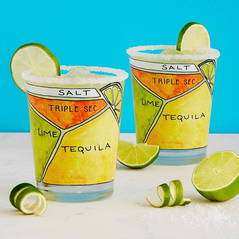 <p>Make the perfect margarita every time with the <span>Margarita Diagram Glassware - Set of 2</span> ($25).</p>
