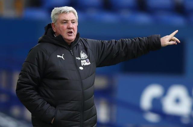 Newcastle manager Steve Bruce gestures on the touchline