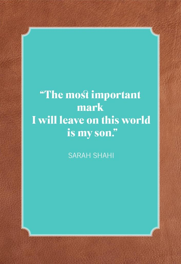 """<p><span>""""The most important mark I will leave on this world is my son.""""</span><br></p>"""
