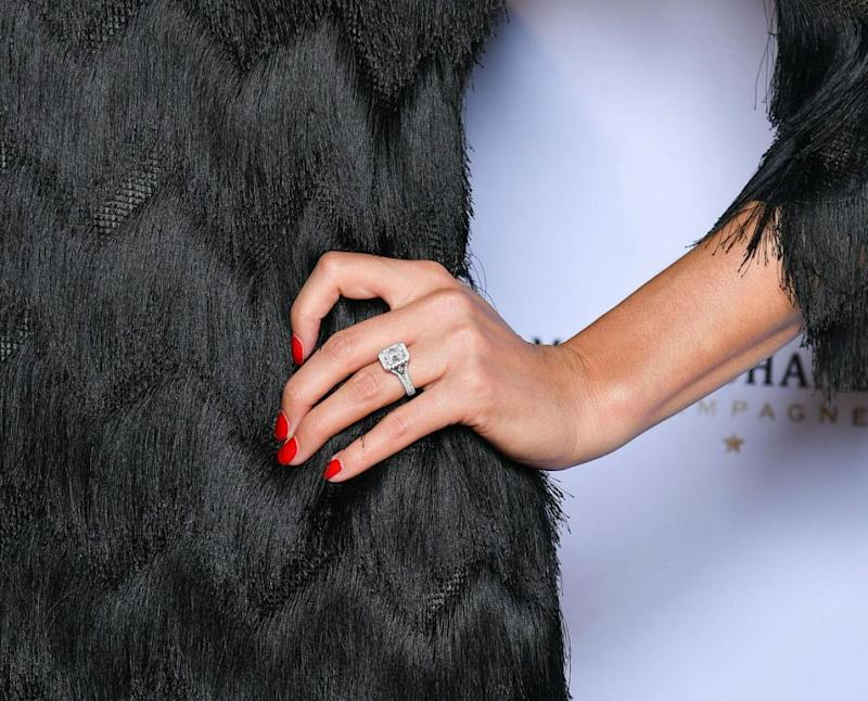 The ring is reportedly worth $120,000. Source: Media Mode