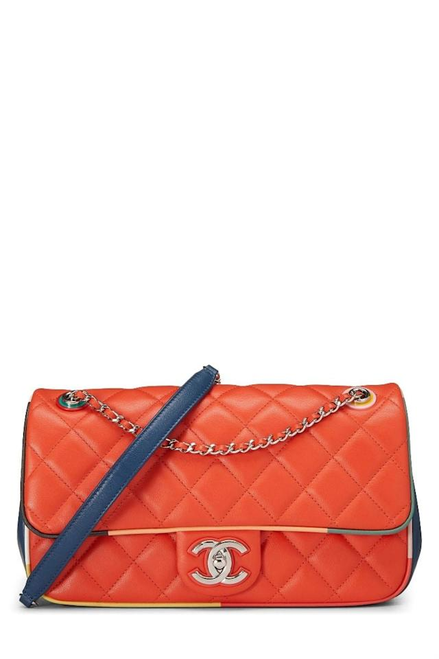 "<p><a href=""v"" class=""ga-track"" data-ga-category=""Related"" data-ga-label=""v"" data-ga-action=""In-Line Links"">Chanel Paris-Cuba Multicolor Calfskin Half Flap Medium</a> ($4,450)</p>"
