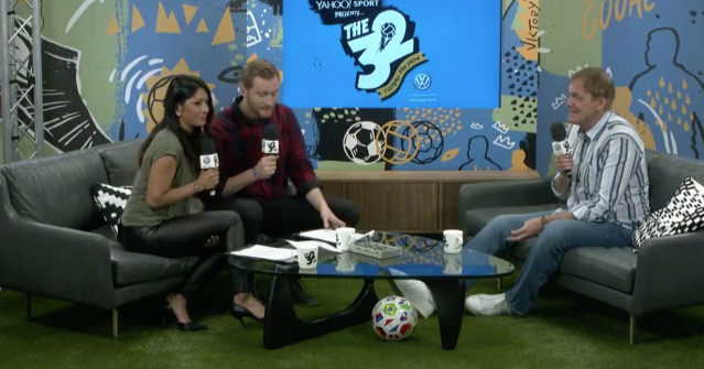 Tony Cascarino was special guest for Episode 12 of The 32 on Monday. (Yahoo)