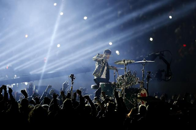 Bruno Mars performs during the halftime show of the NFL Super Bowl XLVIII football game between the Seattle Seahawks and the Denver Broncos Sunday, Feb. 2, 2014, in East Rutherford, N.J. (AP Photo/Kathy Willens)