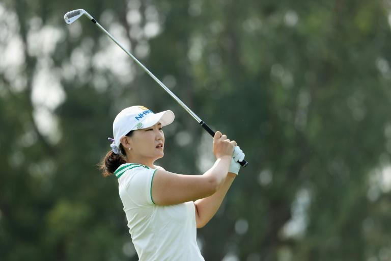 South Korea's Lee Mi-rim on the way to a playoff victory in the LPGA's ANA Inspiration at Mission Hills in Rancho Mirage, California