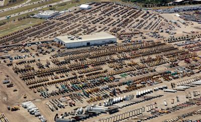 A sea of equipment stretched over the 200-acre Ritchie Bros. auction site in Orlando, FL as the company hosted its largest auction ever in February 2019--13,000+ items sold for US$297+ million (CNW Group/Ritchie Bros. Auctioneers)