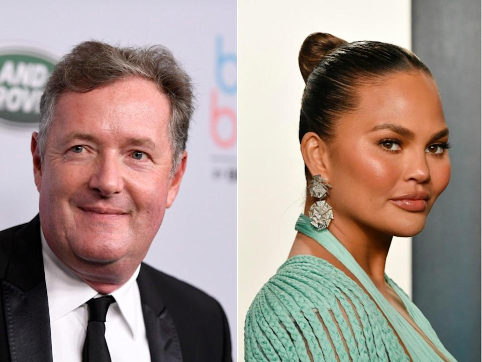 Piers Morgan has accused Chrissy Teigen of being a hypocrite over her bullying scandal (Getty)