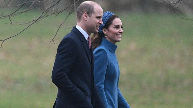Kate Middleton Wears Royal Blue While Attending Church Service With Queen Elizabeth and Prince William