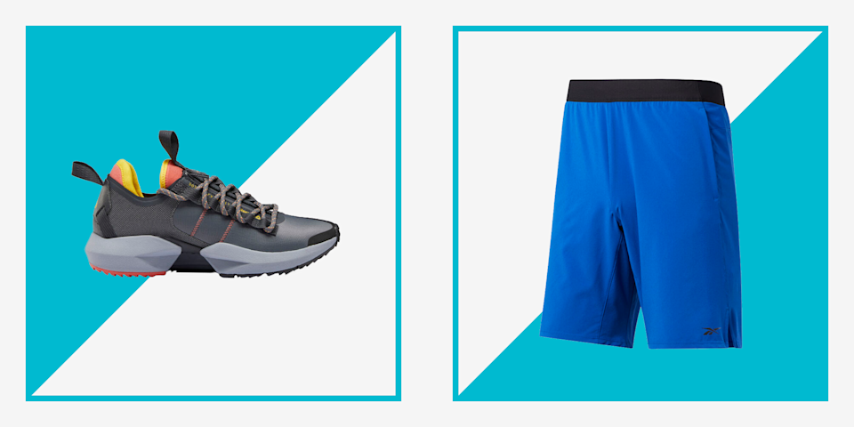 """<p>Want to get a head-start on your 4th of July shopping? Look no further. Right now, <a href=""""https://go.redirectingat.com?id=74968X1596630&url=https%3A%2F%2Fwww.reebok.com%2Fus%2Fjuly_fourth&sref=https%3A%2F%2Fwww.menshealth.com%2Fstyle%2Fg33078920%2Freebok-4th-of-july-sale-mens-sneaker-deals%2F"""" rel=""""nofollow noopener"""" target=""""_blank"""" data-ylk=""""slk:Reebok is taking an extra 40% off its popular sneakers and apparel"""" class=""""link rapid-noclick-resp"""">Reebok is taking an extra 40% off its popular sneakers and apparel</a> with the promo code <strong>""""JULY4.""""</strong> </p><p>Reebok has been making top-tier activewear since its founding in 1958. Thanks to this sale, you can score Reebok's beloved shoes and clothes at a steep discount. (We're talking about $15 workout tees and running sneakers for under $40.) But hurry! With deals this good, we have a feeling sizes and colors will sell out before you know it. To help, we're sharing a few of our favorite deals on workout gear and sneakers from Reebok's big sale. </p>"""