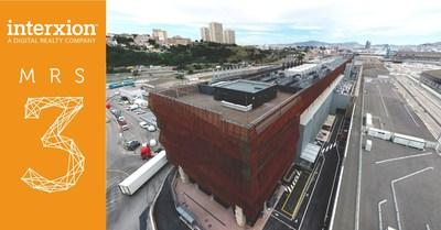 The new MRS3 data center in Marseille, France. Source: Interxion, a Digital Realty company.