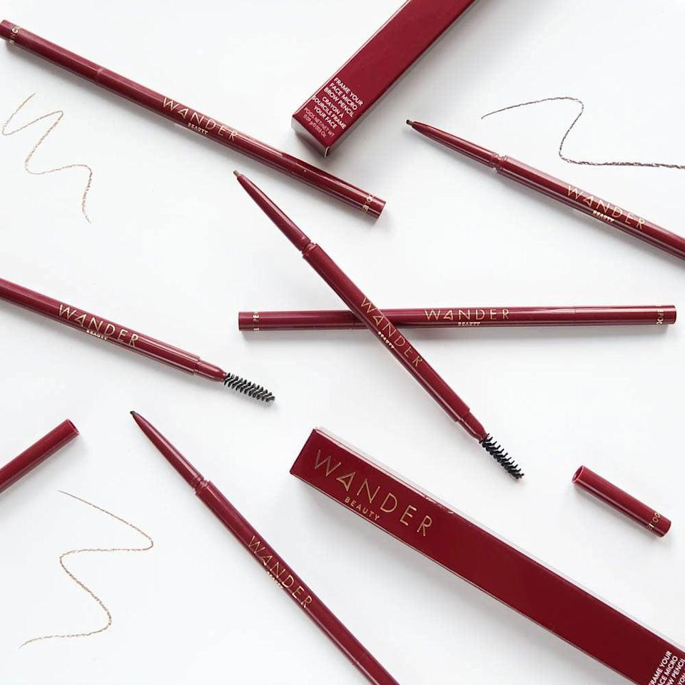 <p>You can build bold, thick brows with the <span>Wander Beauty Frame Your Face Micro Brow Pencil</span> ($21), it won't smear and lasts all day long. It is vegan and cruelty-free.</p>