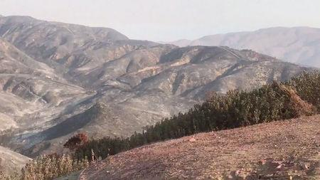A general view of the aftermath from the Holy fire, in McVicker Canyon, California, U.S., August 11, 2018 in this still image from social media obtained on August 12, 2018. CARLA HARPER/via REUTERS