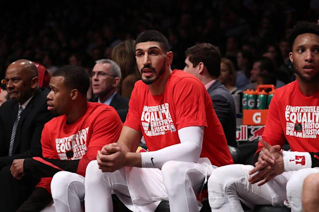 Enes Kanter faces an off-court obstacle like no other in the NBA. (Photo by Al Bello/Getty Images)