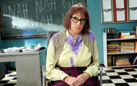 'ALIEN SLIME MONSTER': Miss Battle-Axe (Anjelica Huston) in Horrid Henry: The Movie (2010)