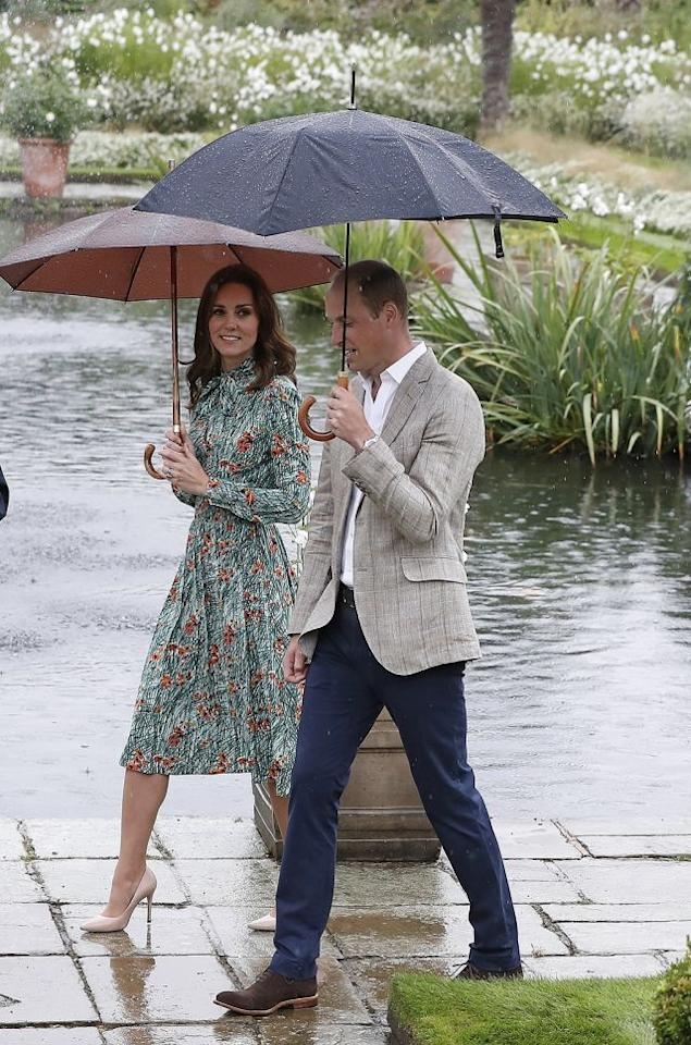 Britain's Catherine, Duchess of Cambridge, seen here with Prince William, is a fan of the tea dress style