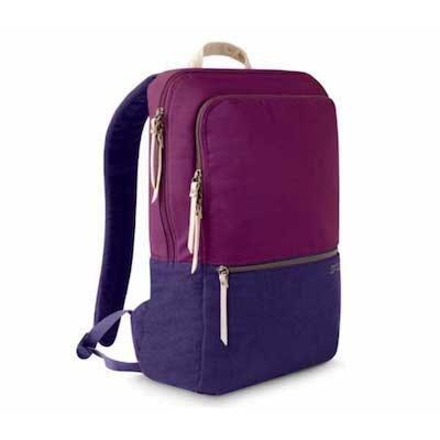 """This berry color-blocked bag is beautiful on the inside and outside. The interior laptop sleeve is lined with faux fur and fits laptops up to 16"""". On the exterior, you'll find a loop to hang keychains and durable, two-way zipper pulls. $100, STM Goods. <a href=""""https://www.stmgoods.com/product/grace-pack/"""" rel=""""nofollow noopener"""" target=""""_blank"""" data-ylk=""""slk:Get it now!"""" class=""""link rapid-noclick-resp"""">Get it now!</a>"""