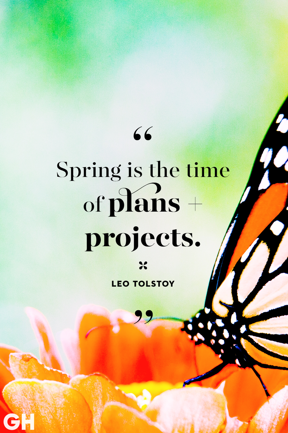 <p>Spring is the time of plans and projects. </p>