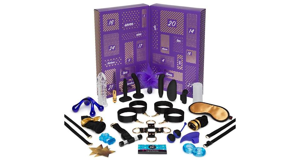 "<p>Packed full of £250 toys, including award-winners, cult favourites and new designs, this advent calendar is designed to bring plenty of festive cheer to your sex life this December. <a href=""https://www.lovehoney.co.uk/product.cfm?p=39533"" rel=""nofollow noopener"" target=""_blank"" data-ylk=""slk:Available from Lovehoney."" class=""link rapid-noclick-resp""><em>Available from Lovehoney.</em></a> </p>"