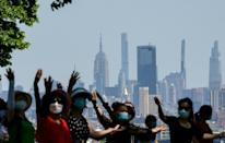 Some New Yorkers are still wary of taking masks off in public, despite an easing of restrictions