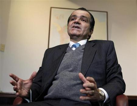 Colombia's Finance Minister Oscar Ivan Zuluaga speaks during an interview with Reuters in Bogota