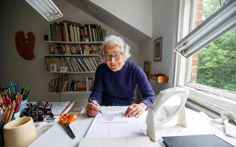 Judith Kerr at home in London, June 2018 - Credit: Getty/AFP