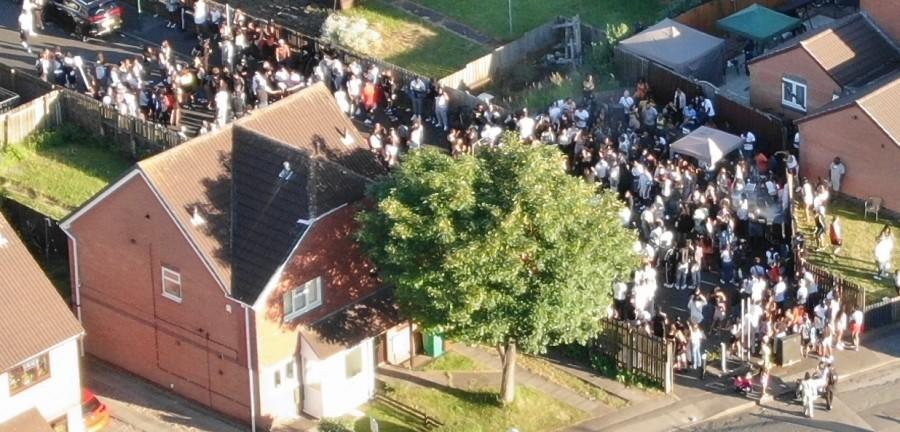 Nottinghamshire Police responded to the party on Bramble Close. (Nottinghamshire Police)