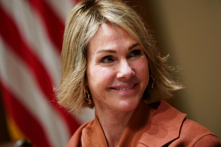Kelly Craft, the US ambassador to the United Nations seen here in December 2019, has warned North Korea against a long-range missile test